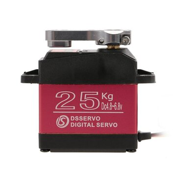 DSSERVO DS3225 25KG 180 Degree Metal Gear High Torque Waterproof Digital Servo For RC Airplane Robot Car