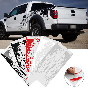 2 PCS Vinyl  Car Side Bed Mud Splash Kit Decal Stickers Fit For Ford Raptor SVT F-150 2009-2018