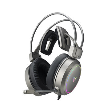 RAPOO Vh610 Gaming Headset 7.1 Virtual Surround Sound Integrated Line Control Graphene RGB LED Light Headphone for Compurter Game