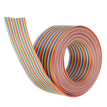 5M 1.27mm Pitch Ribbon Cable 40P Flat Color Rainbow Ribbon Cable Wire Rainbow Cable