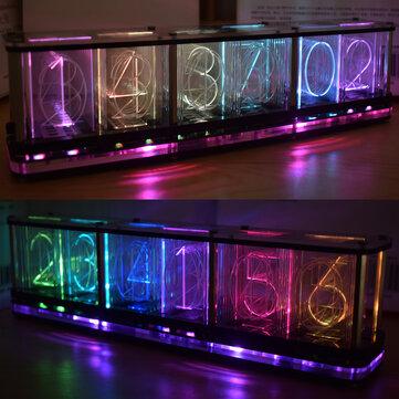 How can I buy Geekcreit DIY Imitate Glow Clock Kit Full Color RGB Glow Tube Clock LED Music Spectrum Kit with Bitcoin