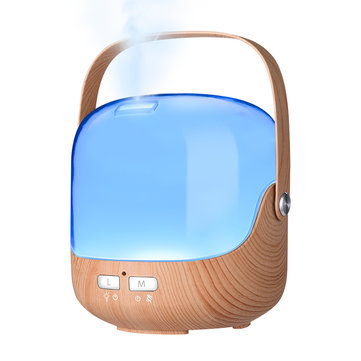 LED Aromatherapy Essential Oil Diffuser Wood Grain Cool Mist Humidifier Ultrasonic Aroma Humidifiers