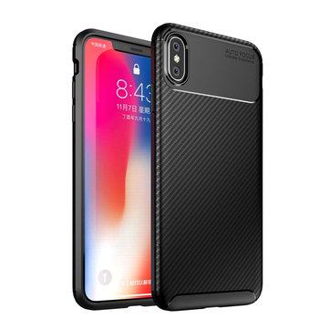 Bakeey Beskyttelsesveske til iPhone XS Max Slim Carbon Fiber Fingerprint Resistant Soft TPU Bakdeksel