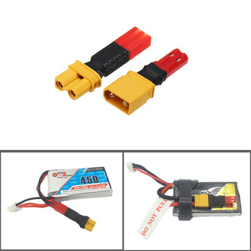 2S 7.4V Lipo Battery Adapter Connector XT30 to JST Male Female Plug