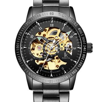 IK MÀU SẮC 98226 Đồng hồ đeo tay tự động kiểu dáng cơ khí thép không gỉ Dây đeo nam