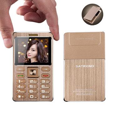 SATREND A10 1.77 Inch 480mAh bluetooth GSM Metal Fuselage Ultra Thin Mini Card Phone