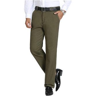 पुरुषों शीतकालीन मोटी फ्लीस आरामदायक पोशाक पैंट सीधे पैर गर्म ठोस रंग पैंट