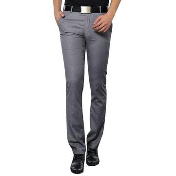 Traje casual de negocios para hombres Pantalones Verano Pantalones finos sin planchar sin arruga de pies finos