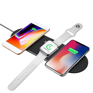 Bakeey 3 IN1 Qi Wireless Charger Pad for For Apple Watch 4 3 2 1 for iPhone X XR Xs Max Fast Wireless Charger Pad