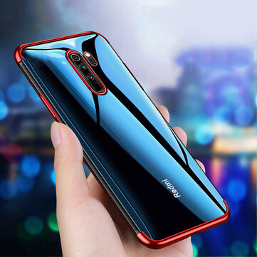 Bakeey Plating Shockproof Transparent Soft TPU Protective Case for Xiaomi Redmi Note 8 pro