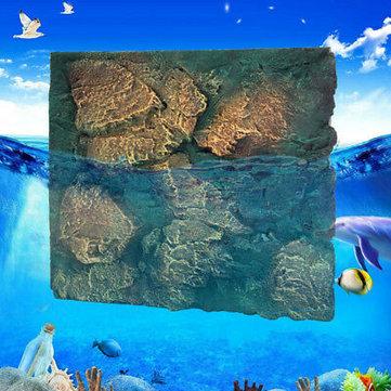 Buy 60x50cm 3D PU Rock Stone Aquarium Background Reptile Fish Tank Backdrop US with 1 on Gipsybee.com