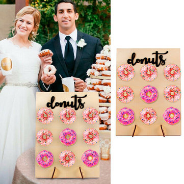 Wooden Donut Wall Candy Stand Table Holder Home Party Decorations Wedding Supply Sweet
