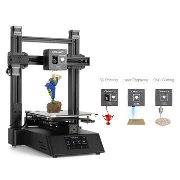 Creality 3D® CP-01 3-en-1 DIY Impresora 3D Kit de máquina modular Soporte Láser Grabado / Corte CNC 200 * 200 * 200 Tamaño de impresión con pantalla de 4.3 pulgadas / Reanudación de energía / Vidrio extraíble Placa / Nivelación inteligente