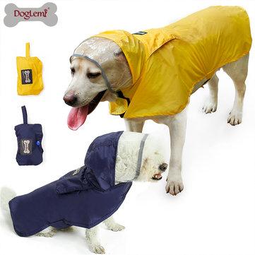 S/M Waterproof Dog Pet Raincoat Portable  Raining Jacket Clothes
