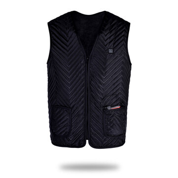 Men Women Electric Heated Vest Jacket Warm Up Heating Pad Cloth Body Warmer GIft