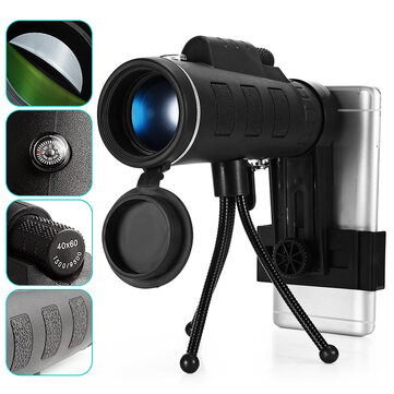 HD Ajustable Waterproof 40X60 Zoom Optical Lens Monocular Telescope with Holder For Outdoor Camping Traveling