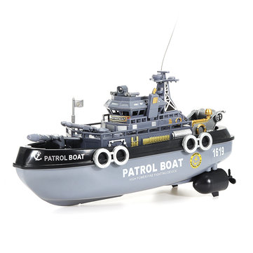1629 4CH Patrol RC Boat Military Ship Vehicle Models Children Toy Without Battery