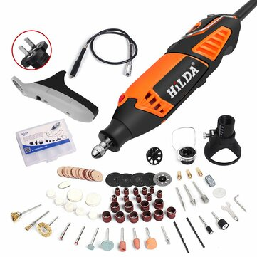 HILDA 220V 350W Electric Mini Drill Variable Speed Electric Grinder Rotary Tool with 91pcs Accessories