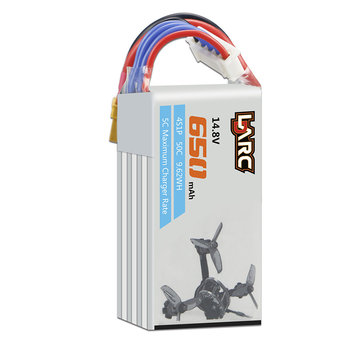 LDARC 14.8V 650mAh 50C 4S Lipo Battery Electric Quantity Prompt For LDARC 130GTI ET125