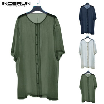 Mens Linen V Neck T Shirts Casual Loose Short Sleeve Summer Cool Tops Blouse Tee