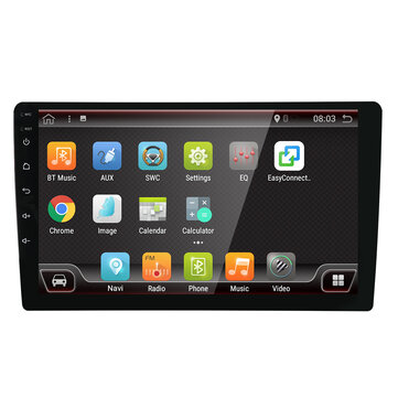 25% Off for YUEHOO 9 Inch 2 DIN for Android 8.0 Car Stereo Radio 4 Core 2+32G Touch Screen 4G bluetooth FM AM RDS GPS DAB+