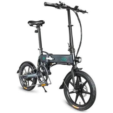 [EU Direct] FIIDO D2S Shifting Version 36V 7.8Ah 250W 16 Inches Folding Moped Bicycle 25km/h Max 50KM Mileage Electric Bike - Grey