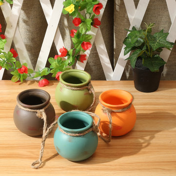 How can I buy 4 Pcs Set Hanging Pots Cotta Flower Pot Terra Colorful Herb Planter Wall Home Garden Decor with Bitcoin