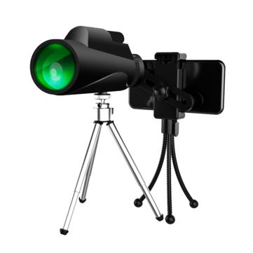 XD-TE7 Telescope 12X50 HD Baka-4 Prism FMC Green Film Portable Telescope High Quality Outdoor Bird Watching