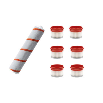 7PCS Roller Brushes Filter Replacements for Dreame V9 Cordless Handheld Vacuum Cleaner