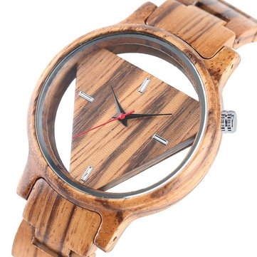 Deffrun Transparent Creative Wooden Wrist Watch Unique Design Men Quartz WatchNEW !