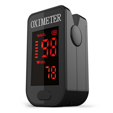 PRCMISEMED PRO-F4 Household Black LED Finger Pulse Oximeter Heart Beat At 1 Min Saturation Monitor Pulse Heart Rate Blood Oxygen SPO2 Monitor
