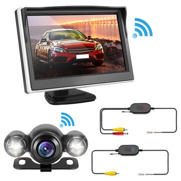 5 Pollici Vista posteriore per auto senza fili a 170 gradi LCD Kit monitor Backup inverso fotografica Visione notturna