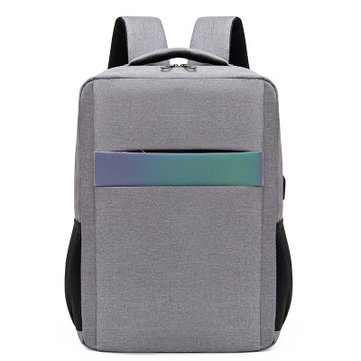 15 inch Laptop Bag with USB Charging Port Laser Reflective Strip Business Stylish Multilayer Oxford Large Capacity