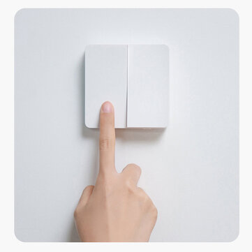 Xiaomi Mijia Smart Switch Wall Switch Single/Doubl/Three Open Dual Control Switch 2 Modes Switch Over Intelligent Lamp Lights Switch