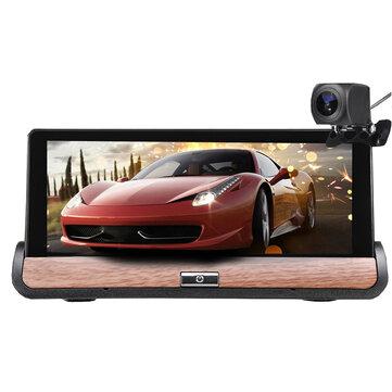 7 Pollici per Android 5.0 HD Auto DVR GPS Doppia lente Navigazione Vista posteriore Dash fotografica Registratore Touch Schermo FM 3G + Wifi