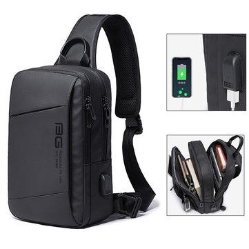 Extra 26% OFF for BANGE BG-22002 USB Shoulder Bag 9.7inch Laptop Bag Crossbody Bag