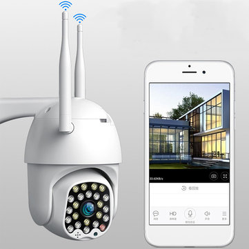 Bakeey 23 LED 2MP 1080P Smart Dome Speed Camera Two-way Audio Full Color Night Vision IP66 Waterproof Automatic Tracking CCTV Home Security Monitor