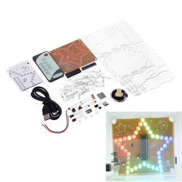 Geekcreit® DIY LSD1941 Remote Control Colorful Star Light Electronic LED Flash Kit Support Downloadable Ringtones WAV Music Player