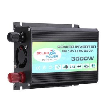 3000W Power Inverter DC 12V to AC 220V Boat Car Inverter USB Charger Converter