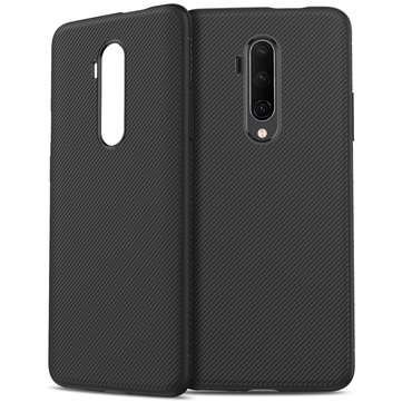 Cho OnePlus 7T Pro Bakeey Kết cấu sợi carbon Slim Soft Silicone chống sốc Protective Case