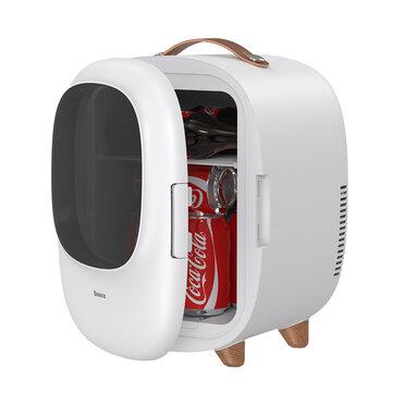 Baseus Desktop 8L Mini Car Household Refrigerator 60W Power Dual Use Warmer and Cooler