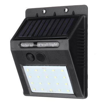 20 LED Solar Power Wall Light Outdoor Waterproof Light-controlled Garden Security Lamp