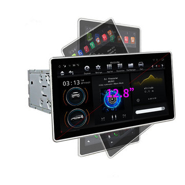 PX6 12.8 Inch for Android 8.1 Car Stereo 180 Degree Rotable IPS Touch Screen 4G+32G GPS WIFI 3G 4G FM AM Radio Support Vehicle Balance Detection