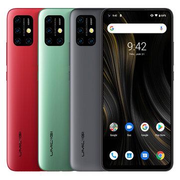 UMIDIGI Power 3 Global Bands 6.53 inch FHD+ Fullview Display Android 10 6150mAh NFC 48MP AI Quad Cameras 4GB RAM 64GB ROM Helio P60 Octa Core 2GHz 4G Smartphone