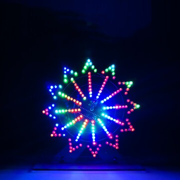 Geekcreit® DIY Colorful LED Automatic Rotating Ferris Wheel Kit Electronic Components Diy Music Spectrum Production Kit