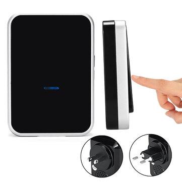 Bell Ding Dong Indoor + Outdoor Button Machine Wireless Dingdong Doorbell Self-Powered