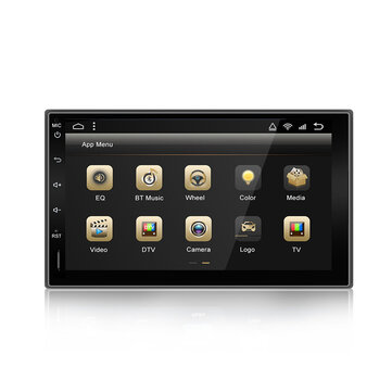YUEHOO 7 Inch 2 DIN for Android 10.0 Car Stereo Radio 8 Core 4+32G Touch Screen 4G WIFI bluetooth FM AM RDS GPS
