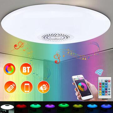 30W E27 Dimmable RGBW bluetooth Music Speaker LED Ceiling Light Bulb + 24Keys Remote Control AC110-277V
