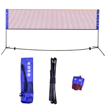 20 Feet Badminton Volleyball Tennis Net Set Portable Team Sport Net With Stand Frame Poles Storage Bag Easy Setup for Indoor or Outdoor Court Beach Driveway