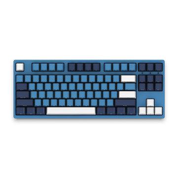 AKKO 3087SP Ocean Star 87 Key NKRO Type-C Wired Cherry MX Switch PBT Keycaps Mechanical Gaming Keyboard for PC Laptop